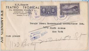 PANAMA -  POSTAL HISTORY - CENSORED COVER with nice stamp - MEDICINE / CANCER