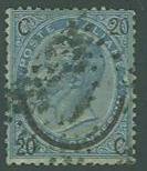 Italy SC#34 King Victor Emmanuel III, 20c on 25c, Used
