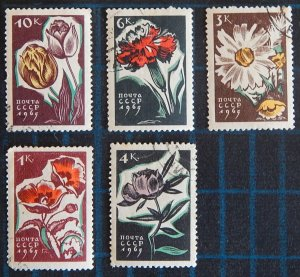 Flowers, USSR, (2588-Т)