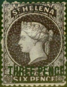 St Helena 1868 3d Deep Dull Purple SG11 Type B Fine Mtd Mint