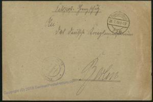 Germany 1919 Revolution Freikorps 1919 Lithuania Grenzschutz Ost Feldpost 34239
