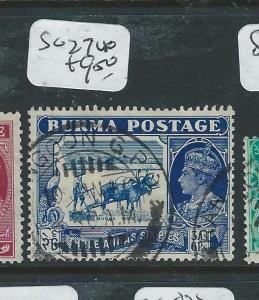 BURMA (P0308B1) ON INDIA KGVI  3A 6P  COW  SG 27  VFU
