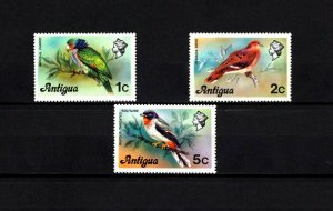 ANTIGUA - 1976 - BIRDS - PARROT - DOVE - PIGEON - SOLITAIRE ++ 3 X MNH SINGLES!