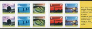 Guernsey Sc 742l  2001 Island Views stamp booklet mint  NH