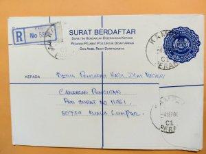 MALAYSIA 1986 REGISTERED COVER FROM PERAK  TO KUALA LUMPUR