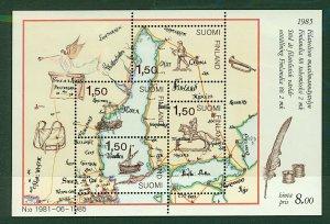 Finland 1985 International Philatelic Exhibition Helsinki sheetlet sgM UM Stamps