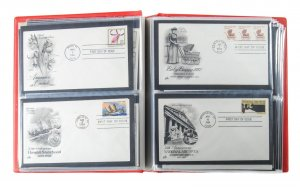 Lot of 104 1983 - 1985 U.S. Cachet FDC Covers in Showgard Binder #139079 X
