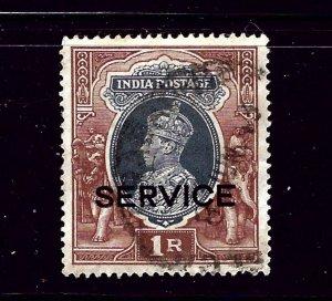 India O100 Used 1938 issue