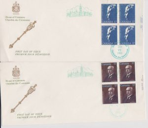 CANADA FDC FROM HOUSE OF COMMONS STAMPS #859,877 LOT#M124