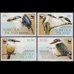 NORFOLK IS. 2004 - Scott# 832-5 WWF-Kingfishers Set of 4 NH