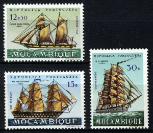Mozambique 1963, Sailships, 3 high values VF MNH, Mi 510-511, 513 cat 8,8€