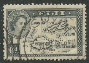 STAMP STATION PERTH Fiji #154 QEII Definitive Issue Used 1954 CV$1.00