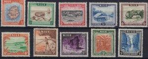 NIUE 1950 Definitive set MUH