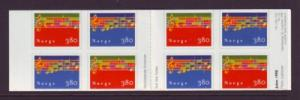 Norway Sc 1209a 1998 Christmas stamp booklet mint NH