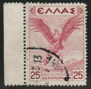 GREECE Scott C27 Used airmail stamp