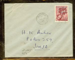 SEYCHELLES (P2603B) A/M COVER WITH POSTAL FISCALS TO KENYA