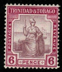 TRINIDAD & TOBAGO SG153 1913 6d DULL & REDDISH PURPLE MTD MINT