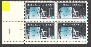 US Plate Block #2087, Health Research, MNH*-