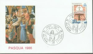 VATICAN POPE JOHN PAUL II PASQUA 1986 FDC R202060