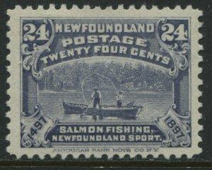 Newfoundland 1897 24 cents blue mint o.g. and VF