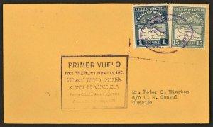 1930 FFC Puerto Cabello Venezuela First Flight To Curacao