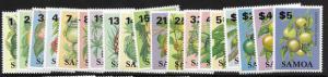 Samoa 600-618 MNH C/Set Island Fruit
