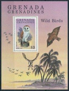 [108806] Grenada Grenadines 1980 Wild Birds Barn Owls vögel oiseaux Sheet MNH