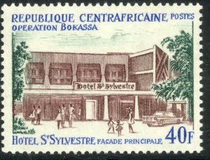 CENTRAL AFRICAN REPUBLIC 1972 40fr Hotel Sylvestrie Entrance Sc 167 MNH