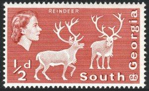 South Georgia 1b, Wmk 314 sideways, MNH. Definitive. Reindeer, 1970