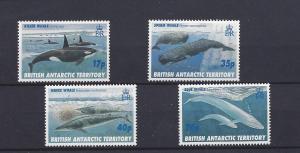 British Antarctic Territory, 244-47, Whales Singles,*MNH*