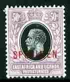 Kenya, Uganda & Tanganyika 1921-22 KG5 50c Script CA over...