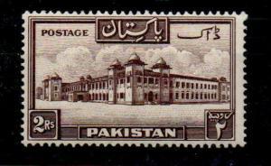 PAKISTAN SG39 1948 2r CHOCOLATE MTD MINT