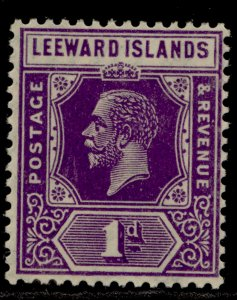LEEWARD ISLANDS SG61, 1d bright violet, LH MINT.