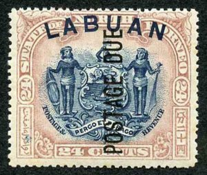 LABUAN SGD9c Postage Due. 1901 24c blue and lilac-brown perf 16 M/M