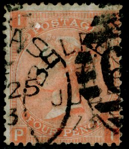 SG93, 4d dull vermilion plate 13, USED. Cat £90. PI