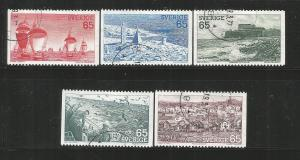 SWEDEN, 1087-1091,USED, 1974 ISSUE