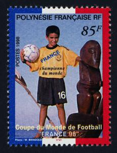 French Polynesia 742 MNH World Cup Soccer, Sports, o/p France