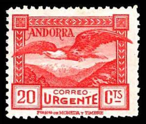 SPANISH ANDORRA E3  Mint (ID # 77329)
