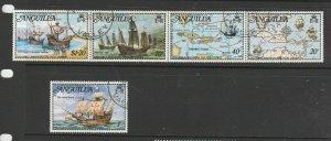 Anguilla 1973 Columbus VFU/CTO, Valley cds, SG 159/63