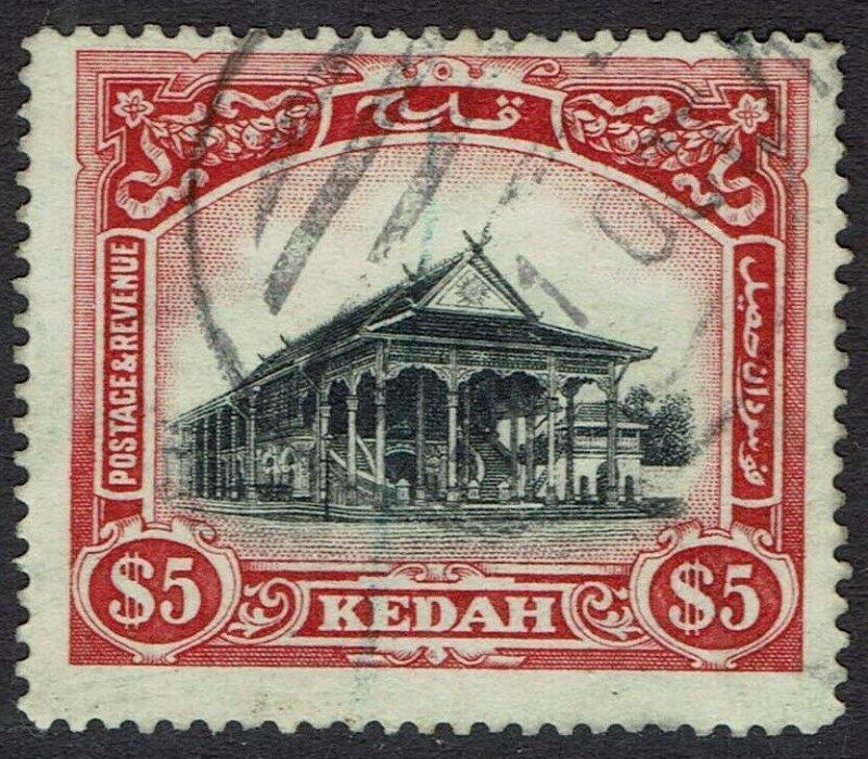 KEDAH 1921 HOUSE $5 WMK MULTI SCRIPT CA USED