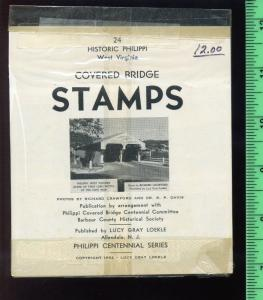 1952 HISTORIC WEST VIRGINIA COVERED BRIDGE 24  Poster Stamps in Wrapper (L263)