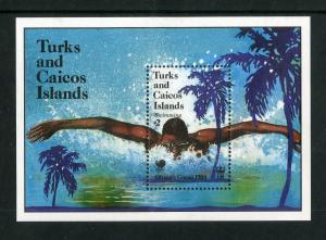 TURKS & CAICOS 951 MH S/S SCV $4.50 BIN $2.25 OLYMPIC SPORTS