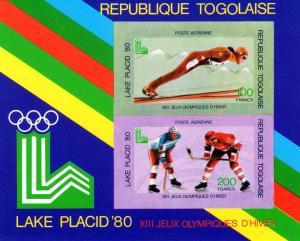 Togo 1980 Lake Placid Ice Hockey SS Imperf.Mi.# Block 151B