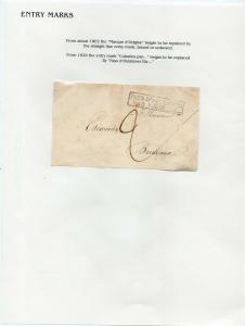 FRANCE Early Incoming LETTER/COVER 1820s fine used item piece