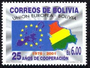 Bolivia Sc# 1138 MNH 2001 Bolivia - EU Cooperation 25th