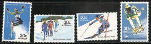 Australia 898-901 1984 Skiers set MNH