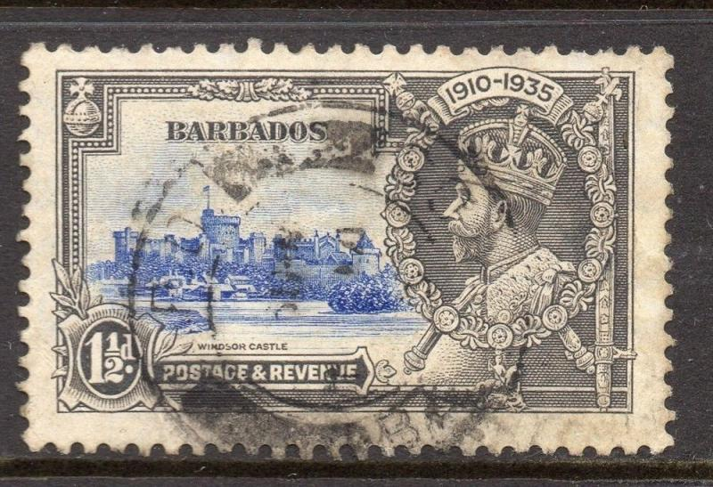 Barbados 1938 GVI Early Issue Fine Used 1.5d. 082903