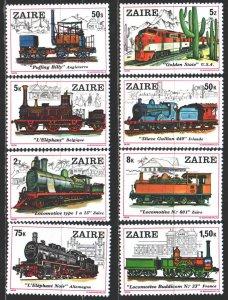 Kinshasa. 1980. 622-29. Railway transport. MNH.