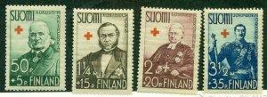 FINLAND #B27-30, Mint Never Hinged, Scott $19.00