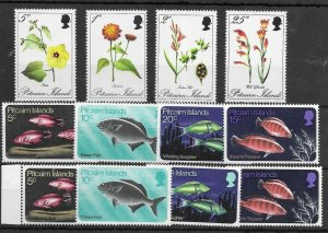 Pitcairn Islands #110-117 MNH Incl. Fish inv. Wmks - Stamp Set - See Scan